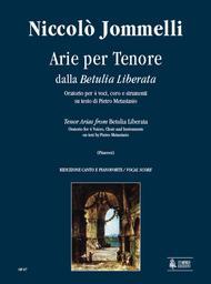Betulia Liberata. Arias for Tenor Sheet Music by Nicolo Jommelli