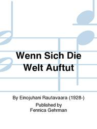 Wenn Sich Die Welt Auftut Sheet Music by Einojuhani Rautavaara