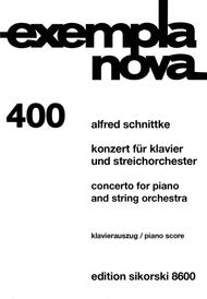 Concerto for Piano and String Orchestra Sheet Music by Alfred Schnittke