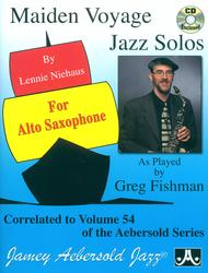 Vol. 54 Maiden Voyage Alto Sax Solos Sheet Music by Lennie Niehaus and Greg Fishman