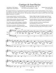Cantique de Jean Racine (SATB) Sheet Music by Gabriel Faure