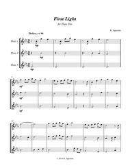 First Light - for Flute Trio Sheet Music by Kate Agioritis