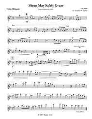 Sheep May Safely Graze Violin and Organ Sheet Music by Johann Sebastian Bach