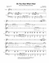 Do You Hear What I Hear (Duet for Soprano and Alto Solo) Sheet Music by Third Day