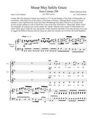 Sheep May Safely Graze (SSA) Sheet Music by Johann Sebastian Bach