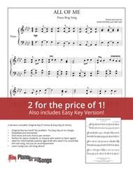 All Of Me (Simplified and Easy Key Piano Solos) - John Legend Sheet Music by John Legend