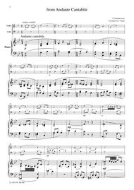 Tchaikowsky from Andante Cantabile