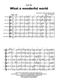 What a wonderful world - Louis Armstrong - Flute Trio Sheet Music by Louis Armstrong