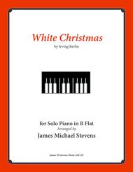 White Christmas - Piano Solo in B Flat Sheet Music by Irving Berlin