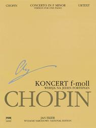 National Edition: Concerto In F Minor Op 21 13B Sheet Music by Frederic Chopin