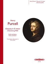 Chacony in G Minor Sheet Music by Henry Purcell