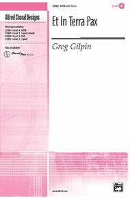 Et In Terra Pax Sheet Music by Greg Gilpin