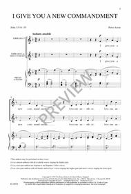 I Give You a New Commandment Sheet Music by Peter Aston